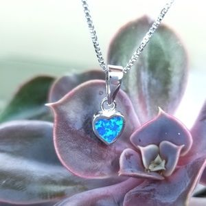 Jewelry - {Heart of the Ocean Necklace} B.Opal .925 sterling